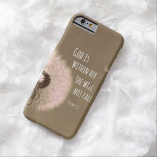 Bible Verse: God is within her, she will not fall Barely There iPhone 6 Case