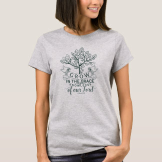 Bible Verse Grow in Grace Christian T-shirt