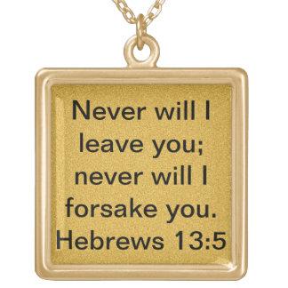 bible verse Hebrews 13:5 encouragement necklace