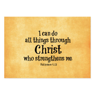 Bible Verse I can do all things through Christ Business Cards