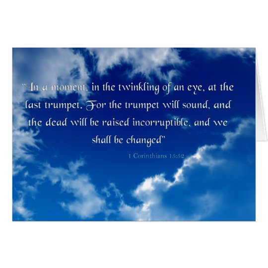 Bible Verse I Corinthians 15-52 Sky Invitation Car