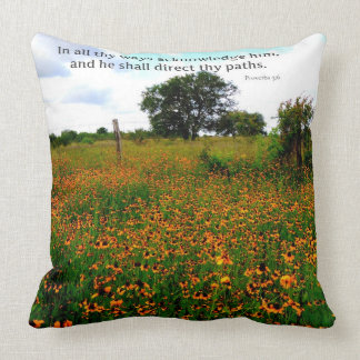 BIBLE VERSE In all thy ways acknowledge him Pillows