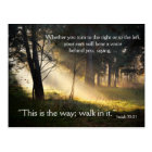 Bible Verse Isaiah 30:21 This is the Way Postcard
