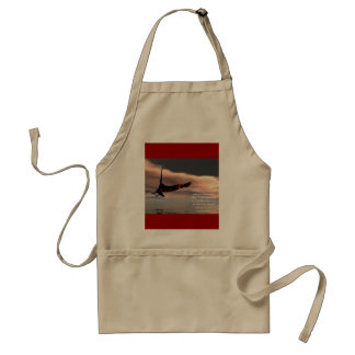 Bible Verse Isaiah 40: 28-31 with Eagle Standard Apron