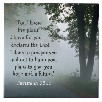 Bible Verse Jeremiah 29:11 Ceramic Tile