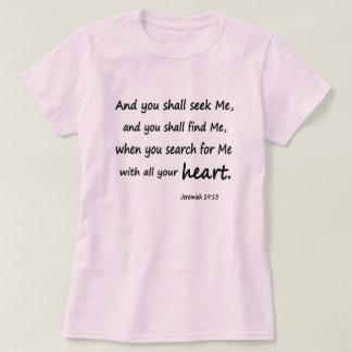 Bible Verse Jeremiah 29:13 Women's Basic T-Shirt