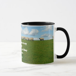 Bible verse, John 10:27, My sheep... Mug