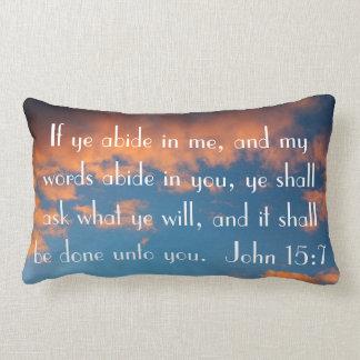 bible verse John 15:7 prayer Lumbar Pillow