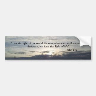 Bible Verse John 8:12  Bumper Sticker