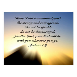 Bible Verse Joshua 1:9 Sunrise Postcard