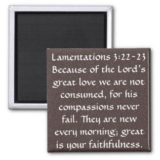 Bible verse magnet