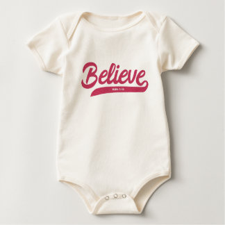 Bible Verse Mark 5:36 in stylish typography Baby Bodysuit