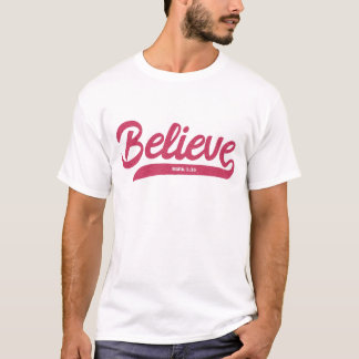 Bible Verse Mark 5:36 in stylish typography T-Shirt