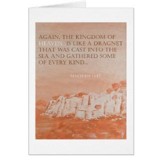 Bible Verse: Matthew 13:47 Pedagogygreetings Card