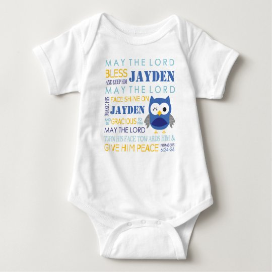 Bible Verse May the Lord Bless Owl Baby T Shirt