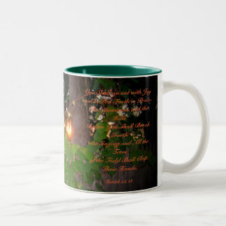 Bible Verse Mug-Isaiah 55:12 Two-Tone Coffee Mug