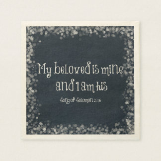 Bible Verse : My Beloved is Mine and I am His Disposable Napkins