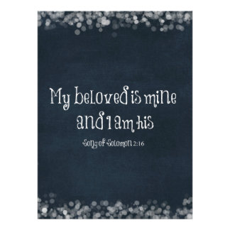 Bible Verse My Beloved is Mine and I am His Custom Announcement
