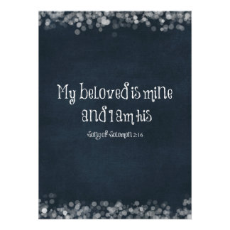 Bible Verse My Beloved is Mine and I am His Custom Invites