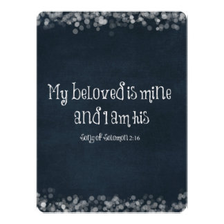 Bible Verse My Beloved is Mine and I am His Personalized Invitations