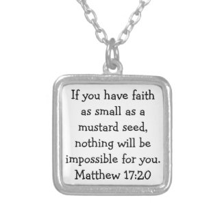 Bible Verse on Healing Necklace