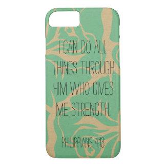 Bible Verse Philippians 4:13 Floral iPhone 7 iPhone 7 Case