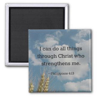 Bible Verse, Philippians 4:13 Magnet