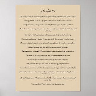 Bible Verse Print, Psalm 91 Poster