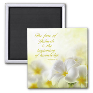 Bible Verse | Proverbs 1:7 | Square Magnet