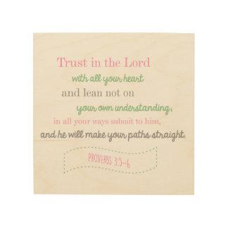 Bible Verse Proverbs Christian Wood Wall Art Wood Canvas