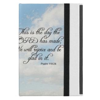 Bible Verse Psalm 118-24 Over Sky iphone, Ipad, Cover For iPad Mini