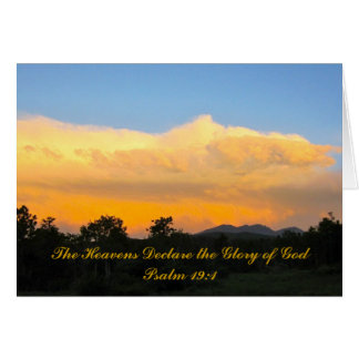 Bible Verse Psalm 19:1 Sunset Greeting Card