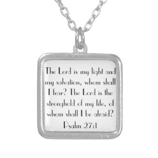 bible verse Psalm 27:1 necklace