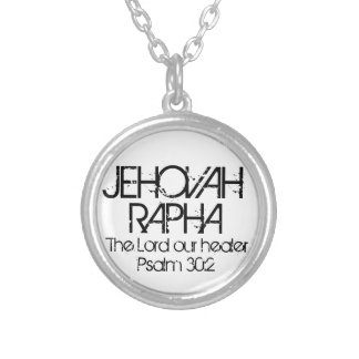 bible verse Psalm 30:2 Jehovah Rapha necklace