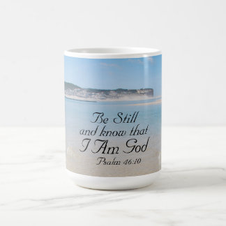 Bible Verse Psalm 46:10 Ocean View Mug
