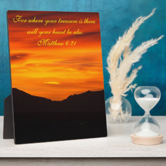 Bible verse sunset plaque