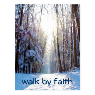 Bible Verse Walk by Faith Postcard