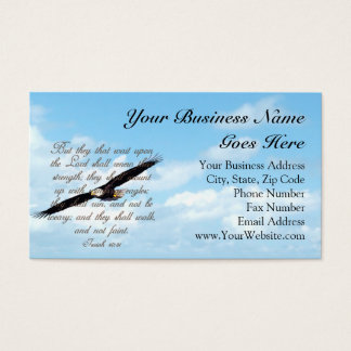 Bible Verse, Wings as Eagles Christian Business Card