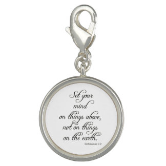 Bible VerseCol 3 2 Set Your Mind Jewelry Necklace Charms