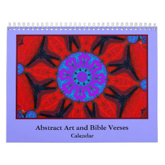 bible verses and abstract art wall calendars