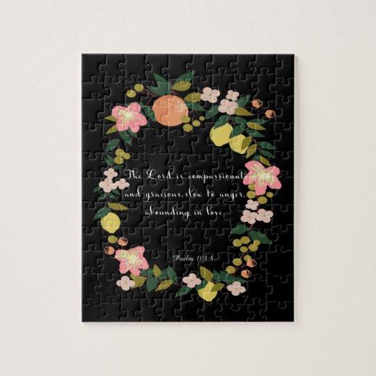 Bible Verses Art - Psalm 163:8 Jigsaw Puzzle