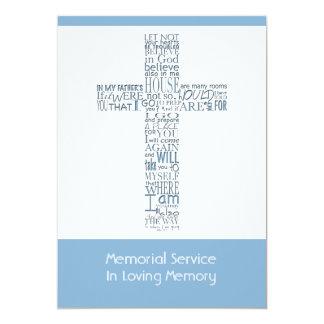 Bible Verses from John 14 Memorial Service 9 Card