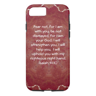 Bible Verses Inspirational Quote Isaiah 41:10 iPhone 8/7 Case