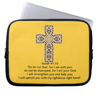 Bible Verses- Isaiah 41:10 Computer Sleeves