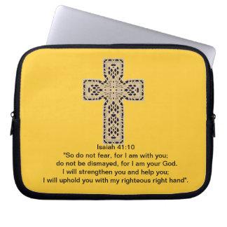 Bible Verses- Isaiah 41:10 Laptop Sleeve