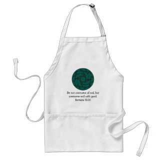 Bible Verses Love Quote Saying Romans 12:21 Adult Apron