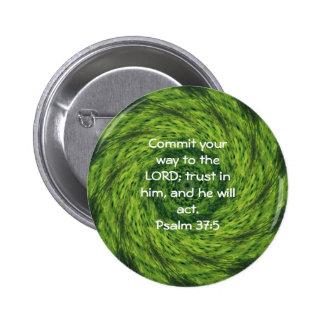 Bible Verses Motivational Scriptures Psalm 37:5 2 Inch Round Button