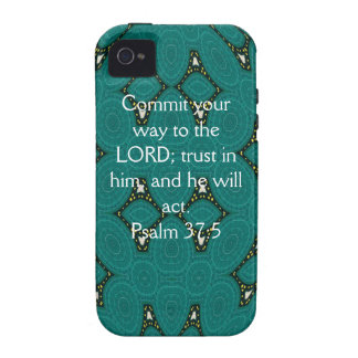 Bible Verses Motivational Scriptures Psalm 37:5 iPhone 4/4S Cover