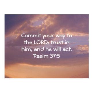 Bible Verses Motivational Scriptures Psalm 37:5 Postcard