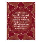 Bible Verses Uplifting Quote Romans 15:13 Postcard